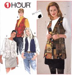 30% OFF Womens Sewing Pattern Button-Down Vest by Sutlerssundries