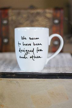 I want one of each of her mugs. They are fabulous. designed for each other by Brookish on Etsy. $16.00, via Etsy.