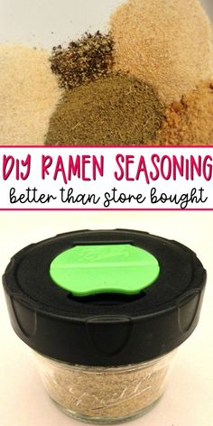 DIY Ramen Seasoning Recipe Did you know that you can make homemade ramen seasoning with spices you probably already have on hand? This homemade ramen seasoning recipe is easy to make and is so yummy! Homemade Dry Mixes, Homemade Spice Blends, Homemade Ramen, Homemade Spices, Homemade Seasonings, Spice Mixes, How To Make Ramen, Making Ramen, Plat Vegan