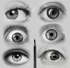 Realistic Drawing Techniques - Drawing of Eyes : Eyes are the most expressive and one of the beautiful features on a face. No matter which part of the world you are from, your eyes can speak volumes. As an artist, drawing of eyes Human Eye Drawing, Eye Pencil Drawing, Realistic Pencil Drawings, Art Drawings Sketches, Drawing Eyes, Eye Drawings, Eye Drawing Tutorials, Drawing Techniques, Illustration Art Dessin
