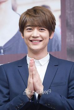 150409 Minho - KBS 2TV 'Fluttering India' Press Conference -THAT SMILE