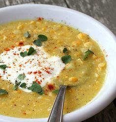 Zuppa di mais e patate | http://www.ilpastonudo.it/minestre-e-zuppe/zuppa-di-mais-e-patate/