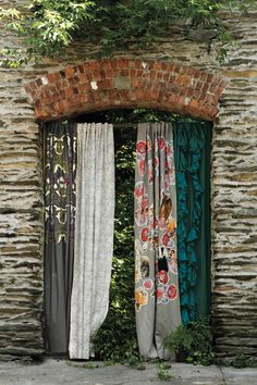 Great idea for all those single curtains you can pick up a Goodwill. Maybe my bedroom??