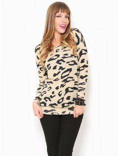 #Leopard Print Pullover