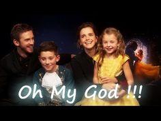 Emma Watson and Dan Stevens with Mini Beauty and the Beast CUTE !!! - YouTube