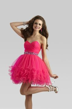 Clarisse 2014 Mint Pink Blue Short Tulle Prom Dress 2303 | Promgirl.net