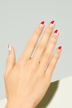 In look for some nail styles and some ideas for your nails? Here's our listing of must-try coffin acrylic nails for modern women. Square Oval Nails, Round Nails, Minimalist Nails, Acrylic Nails, Gel Nails, Red Tip Nails, Short Nail Manicure, Bright Red Nails, Coffin Nails