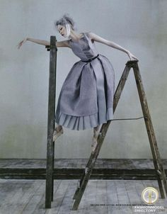 """Ji Hye Park featured in the Vogue Korea editorial """"Poetry In Motion"""" from August 2012"""
