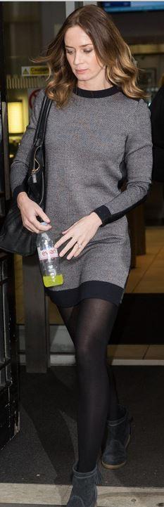 Emily Blunt: Dress – Ann Taylor  Shoes – Isabel Marant (on the red carpet LK Bennett pumps)