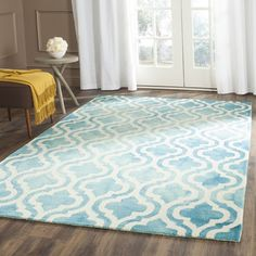 Bungalow Rose Fairfax Hand-Tufted Turquoise/Ivory Area Rug & Reviews | Wayfair