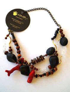 Unique handmade necklace by www.hmp.lt on Etsy