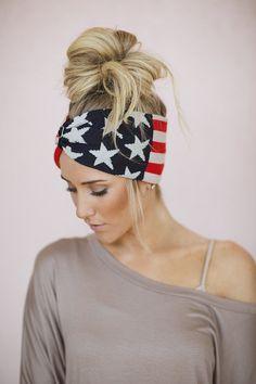 Winter Olympics American Flag Headband USA Hair by ThreeBirdNest