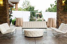 white modern lounge furniture: Bridal Bliss Wedding   Bridalbliss.com   Eugene Wedding   Oregon Event Planning and Design   Amanda K Photography   Blum Floral