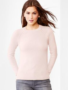Pale pink cashmere sweater- yes, please!!