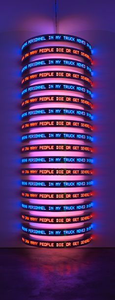 Jenny Holzer, MONUMENT, 2008 - Gallery One, Moscow