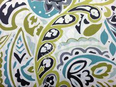 *NEW* Cynthia Rowley Aqua Navy Green Blue Paisley 3pc KING Duvet + Shams Bedding #CynthiaRowley