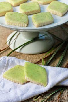 Lemongrass Shortbread Cookies #cookies #food #lemongrass