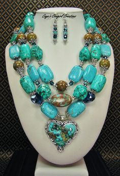 COWGIRL WESTERN NECKLACE / Triple Strand by CayaCowgirlCreations
