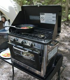 Camp Chef's 2 Burner Camping Stove and Oven Outdoor Cooking Vacation Tailgating | eBay