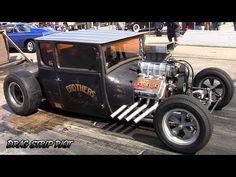 2015 Hunnert Car Heads Up Drags 354 Hemi Rat Rods Hot Rods Race Nostalgia Drag Racing Videos - YouTube