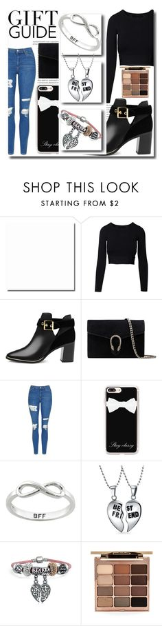 """Gift Guide: Besties Jewellry"" by emmy-124fashions ❤ liked on Polyvore featuring Oris, Ted Baker, Gucci, Topshop, Casetify, Eternally Haute, Bling Jewelry, Stila and besties"