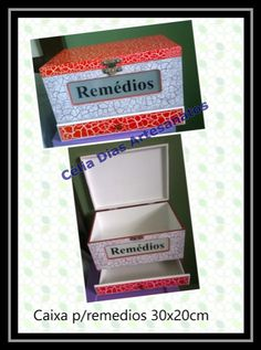 Caixa de remédios em MDF
