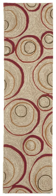 Spello Hoops Red Indoor/Outdoor Rug