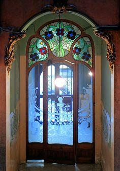 Art Nouveau door, Barcelona