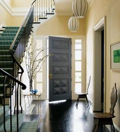Beautiful entryway @Gayle Robertson Robertson via Karen from LilyFair Drapery & Hunt Studio Design Hunt