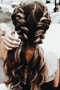 Long Hair Braids: Braided Hairstyles for Long Hair: Wavy Double Dutch Braids . , Long Hair Braids: Braided Hairstyles for Long Hair: Wavy Double Dutch Braids Source by , Beauty Easy Summer Hairstyles, Braid Hairstyles For Long Hair, Hairstyles 2016, Wedding Hairstyles, Dutch Braided Hairstyles, Teenage Hairstyles, Easy Pretty Hairstyles, Summer Hairdos, 1930s Hairstyles
