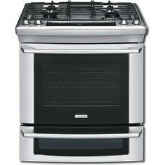 """Electrolux - 30"""" Self-Cleaning Slide-In Double Oven Dual Fuel Convection Range - Stainless-Steel - Larger Front"""