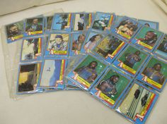 THE A-TEAM! A LOT OF 65 TV SHOW TRADING CARDS! 1983! STEPHEN J. CANNELL! AS IS!