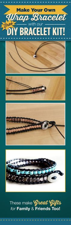 Make your own Wrap Bracelet with our DIY Bracelet Kit