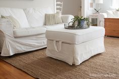 Cozy.Cottage.Cute.: Cleaning Tutorial - How I Wash My White Ikea Slipcovers