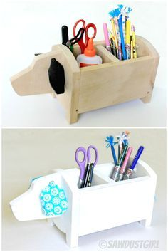 DIY Dog Caddy - want one for desk at school and one for sewing room desk. Too cool!
