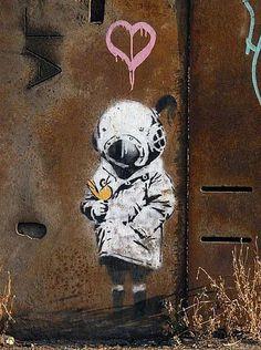 High Caliber by toddwshaffer Banksy street art . Banksy By Cern, Paris graffiti dots: Long Sleeve Colorblocked Graffiti Print Dress Street Art Banksy, Banksy Graffiti, Graffiti Artwork, Graffiti Drawing, Art Mural, Bansky, Urban Street Art, 3d Street Art, Street Artists