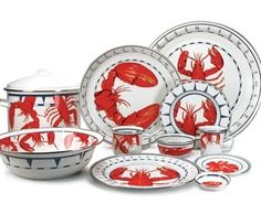 Crab and Lobster Themed Kitchen | Ocean Offerings has introduced this new lobster design.