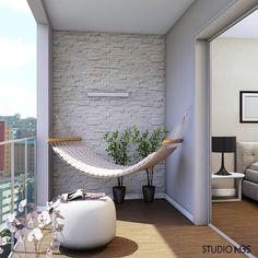 Cozy Balcony Decorating Ideas With Hammock To Inspire You - Balcony upstairs - Balcony Furniture Design Interior Balcony, Apartment Balcony Decorating, Balcony Furniture, Home Decor Furniture, Condo Balcony, Bedroom Balcony, Bedroom Furniture, Small Balcony Design, Small Balcony Decor