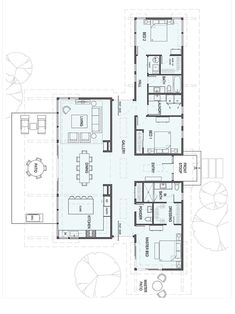 – Perfect for Art Collectors - Stillwater Dwellings New House Plans, Modern House Plans, Small House Plans, Modern House Design, House Floor Plans, The Plan, How To Plan, Home Design Plans, Plan Design
