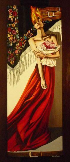 Artistic Painting of Daniela and Anna Squintu - Sardinia (Italy)