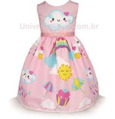 Vestido de Festa Chuva de Amor Kids Outfits Girls, Kids Girls, Princess Peach, Disney Princess, Disney Characters, Alice, 1, Clothes, Dresses