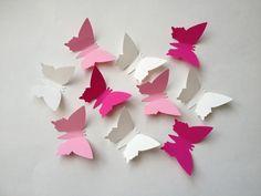 """25 Papierschmetterlinge """"Rosi"""" von ✳wenn Engel (s)tanzen✳ auf DaWanda.com"""