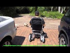 Electric Folding Wheelchair for the Big And Tall Portashopper Supergrand Light Electric Wheelchair Tyler Texas, Powered Wheelchair, Wheelchairs, Baby Strollers, Electric, Children, Youtube, Travel, Baby Prams