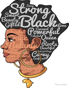 'Positive Afro Natural Hair Shirt - Beautiful is in my DNA ' Sticker by fierromade Black Love Art, Black Girl Art, My Black Is Beautiful, Black Girl Magic, Black Girls, Natural Hair Shirts, Natural Hair Art, Natural Hair Styles, Black Art Painting