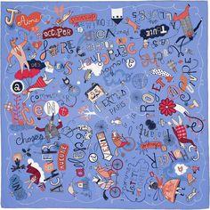 """36"""" x 36"""" scarf Hermès   Les Confessions"""