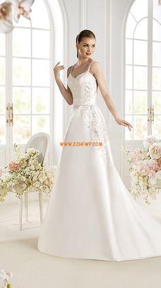Spring 2014 Satin Natural Wedding Dresses 2014