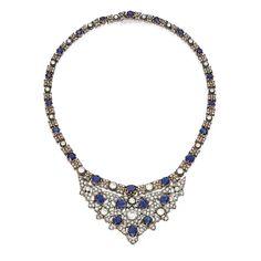 Gold, silver, sapphire and diamond necklace, Buccellati