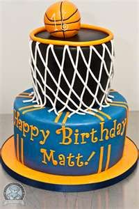 basketball cake  No matter how old you get - this is a cool cake idea!