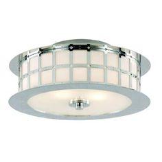 2-Light Polished Chrome Flush Mount-10181 PC - The Home Depot