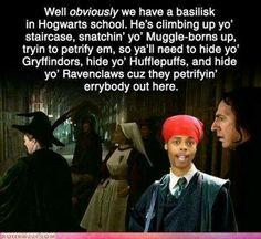 Basilisk. HRru potter. Professor snape. Gryffindor. Ravenclaw. Huffle puff.